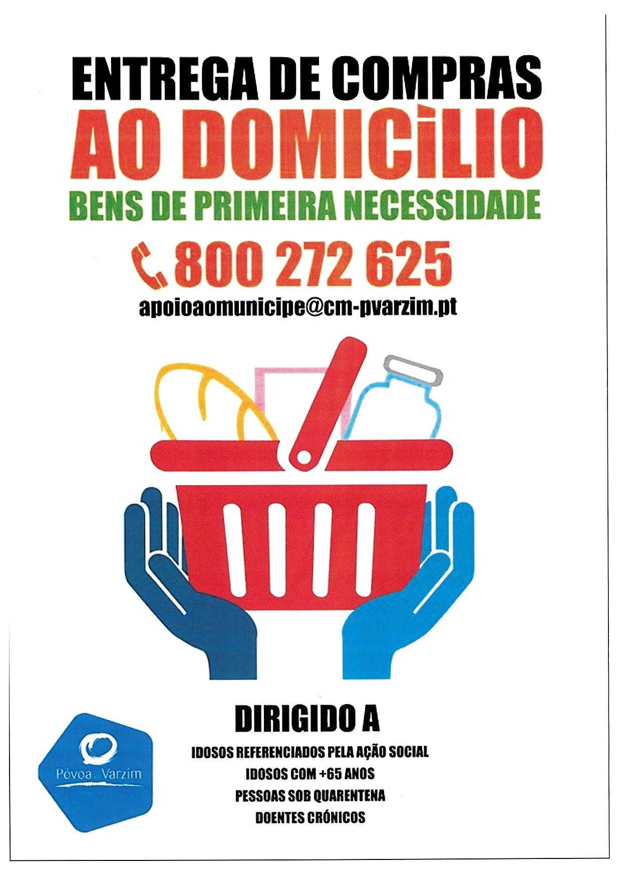 ENTREGA DE COMPRAS AO DOMICILIO BENS DE PRIMEIRA NECESSIDADE